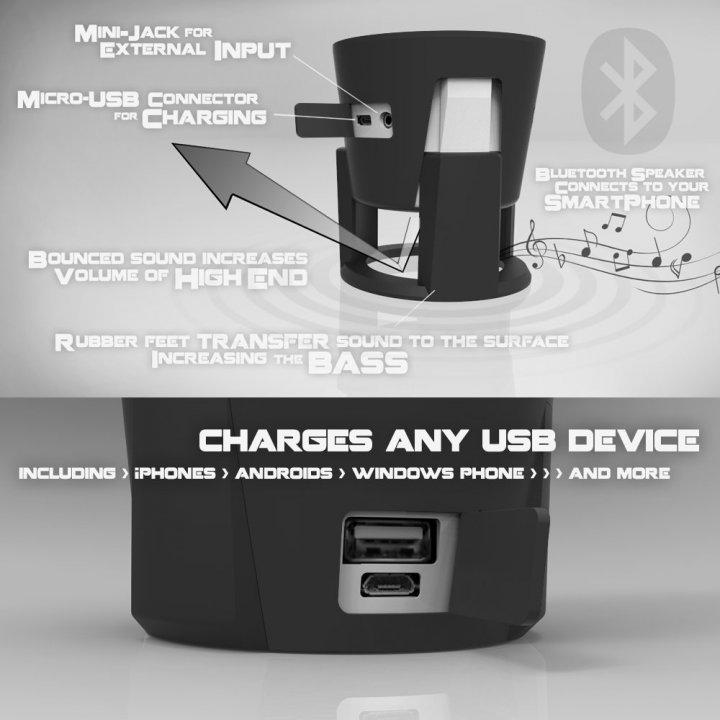 3 DB HYDRA SMARTBOTTLE OKOSKULACS (Bluetooth hangszóró + power bank ... 9ff7d02deb