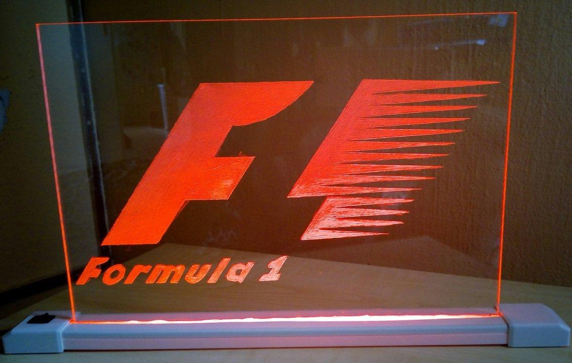 ELADÓ!!!Világitó F1-es plexi tábla Vagy CSERE PS4 JÁTÉKRA ... ae002cf26c