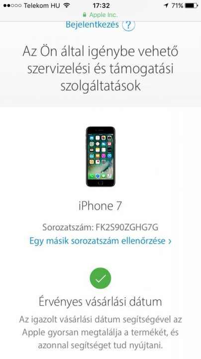 e5fe509165 Gyönyörű szinte új (GARIS)- Iphone 7 (silver, ezüst) FULL doboz ...