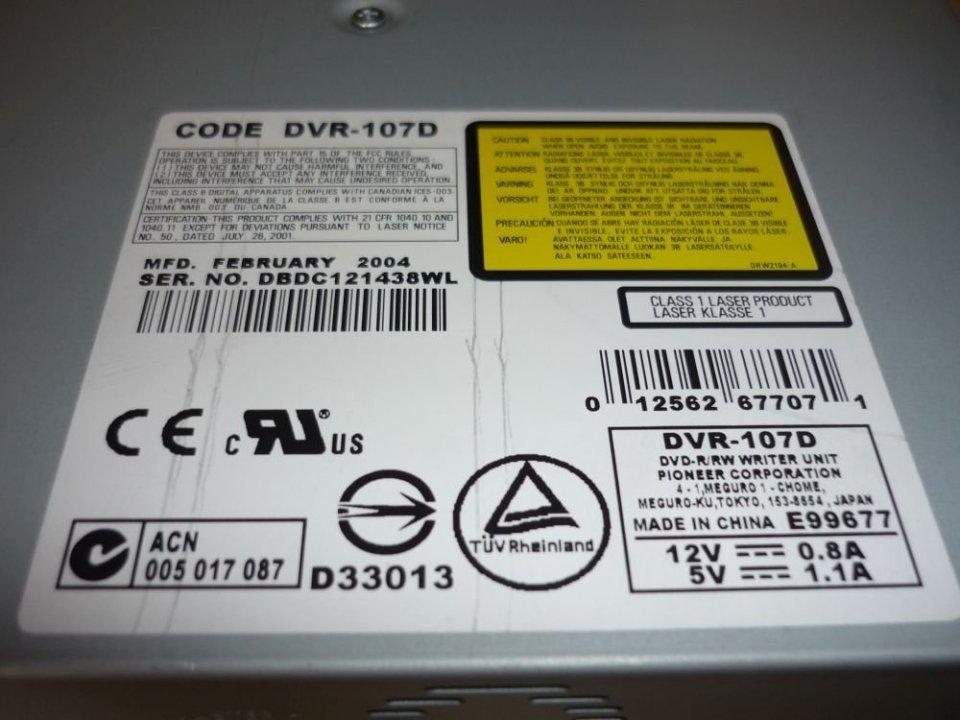 Pioneer DVR107D Driver Download