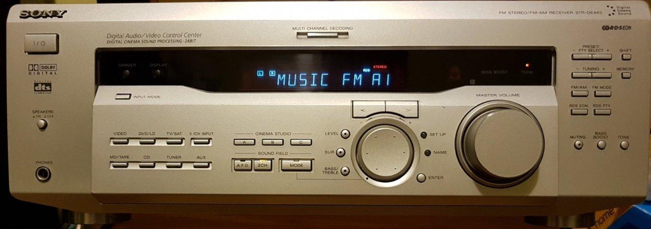 Sony STR-DE445 5.1 ezüst színű házimozi erősítő eladó! - HardverApró 9fb0bf764c