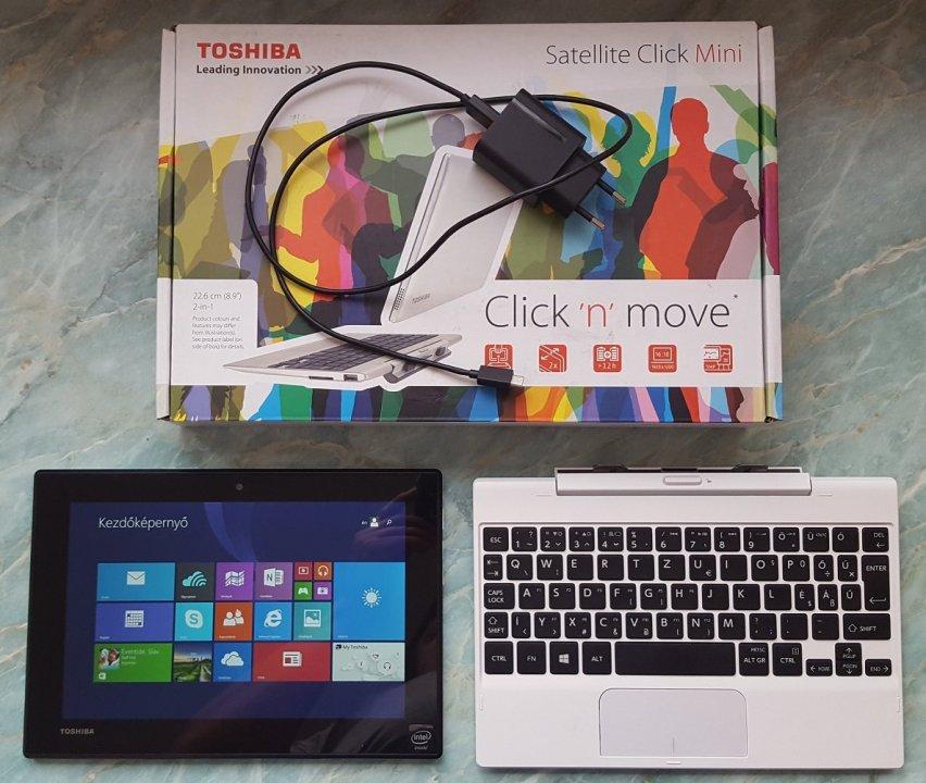0cb3a35f94dd Toshiba Click Mini típusú tablet / laptop 2 in 1 eladó - HardverApró
