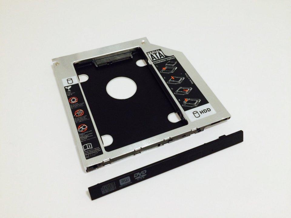 2.5   HDD SSD beépítő keret laptop DVD író ODD helyére - HardverApró 8cac5ae7e9