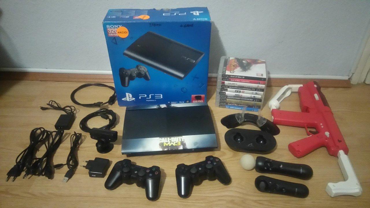 Playstation 3 Superslim 320gb Sok Tartozkkal Jtkokkal Hardverapr Sony Super Slim 320 Gb Hirdets Rszletei