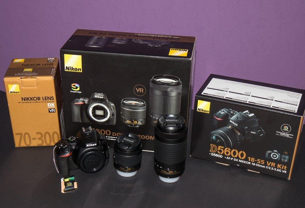 3a6b0d40e900 ÚJ!! Nikon D5600 kit (AF-P DX 18-55mm f/3.5-5.6 VR + 70-300mm f/4.5 ...