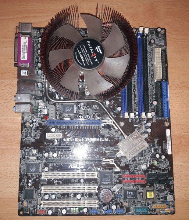 ASUS A8N SLI Premium Socket 939 Alaplap Izmos Zalman Fatal1ty FS