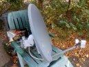 Komplett forgatómotoros szatellit antenna, 80cm tányérral,duplafejjel - Komplett forgatómotoros szatellit antenna, 80cm tányérral,duplafejjel