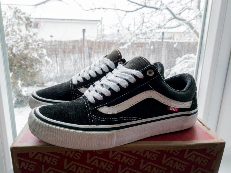 eacaf07eb1d8 42-es Vans Old Skool Pro fekete/fehér cipő - használt, jó állapotú ...