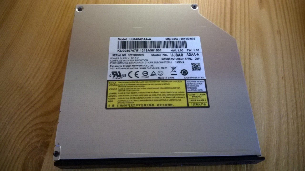 Panasonic UJ8A0 SATA notebook DVD-író - HardverApró cc021fa988