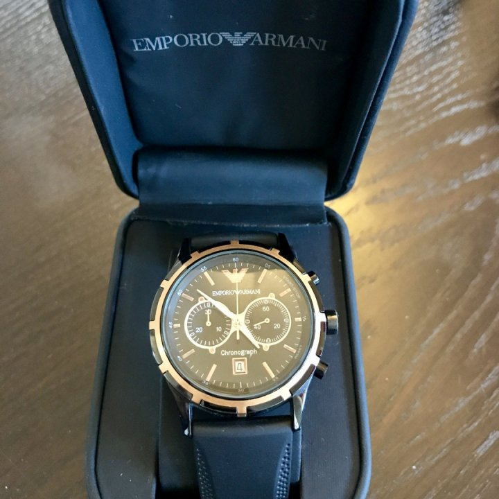 Újszerű eredeti Emporio Armani Ar0584 chronograph férfi karóra ... 5b69d237bb