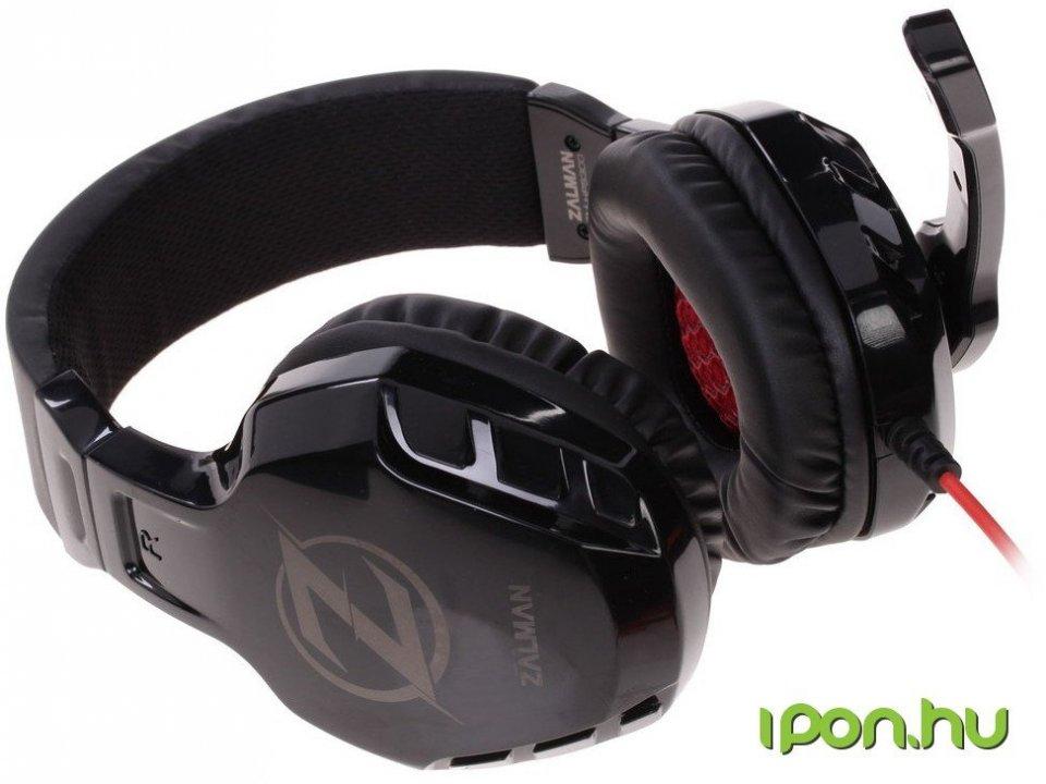 Zalman ZM-HPS300 mikrofonos fejhallgató fekete - HardverApró 79990277ab