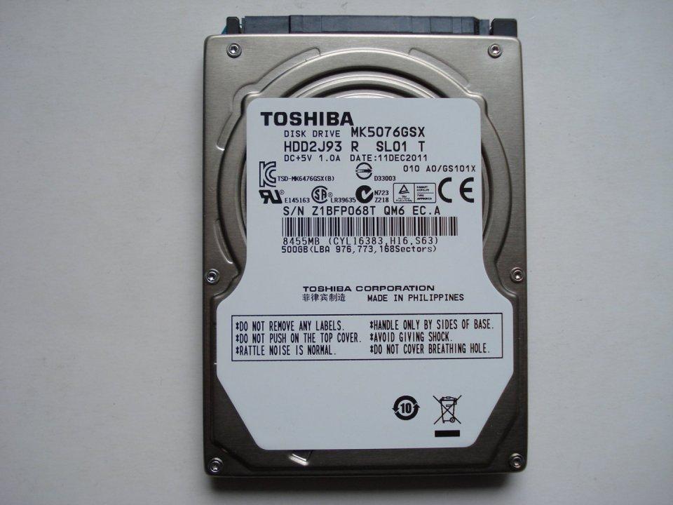 9632c8322ba1 Toshiba MK5076GSX 500GB 2.5 SATA laptop merevlemez eladó. - HardverApró