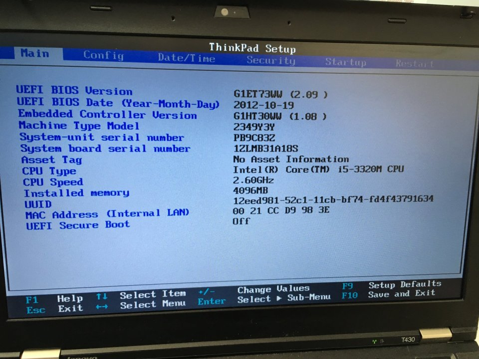 Lenovo T430 i5-3320M CPU 1600X900 Felbontás 4GB Ram - HardverApró