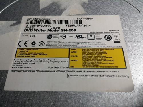 Samsung SN-208FB BEBE laptop DVD író - HardverApró b39d397d59