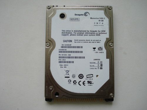 b60a28c5cd49 Seagate Momentus 5400.3 40GB 2.5 IDE laptop merevlemez eladó ...