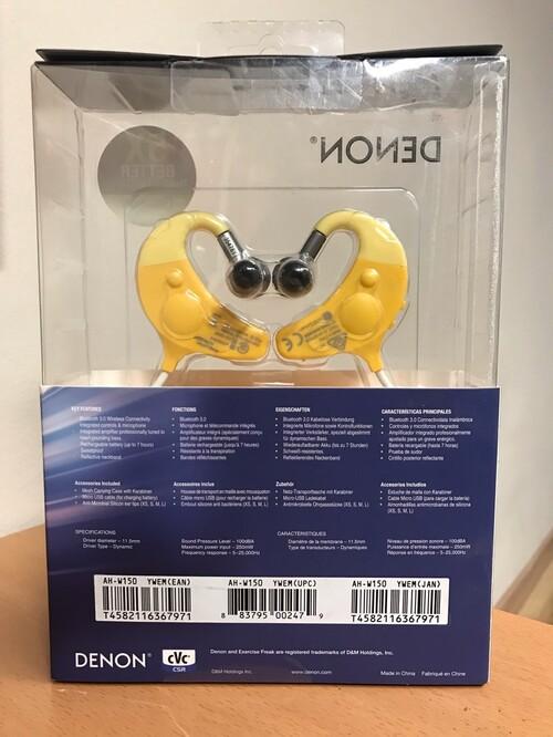 Denon Exercise Freak AH-W150 Fülhallgató - sárga - ALKUDOZNI ÉR ... 6c81ec33c9