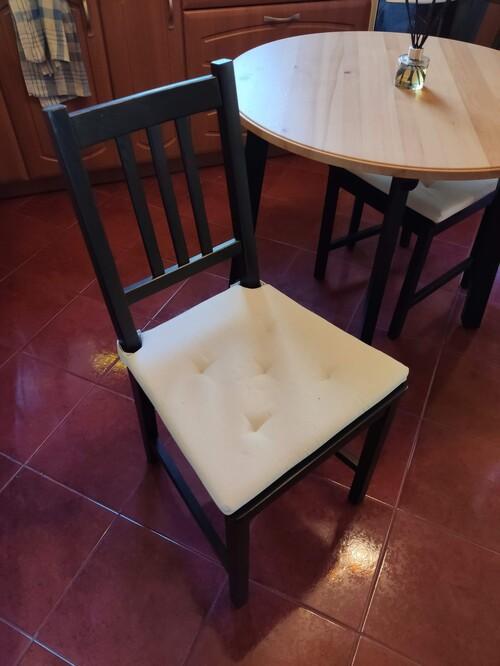 Újszerű fél éves IKEA GAMLARED asztal + 2 STEFAN szék