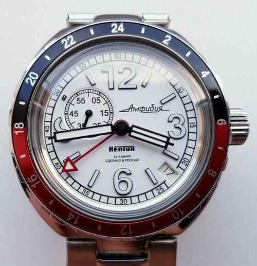 Vostok Amphibian Neptune Classic fehér automata karóra