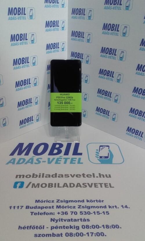 Huawei P30 Pro 128Gb kék színben gyári doboz + töltő