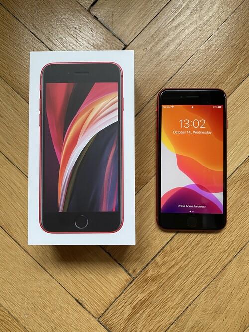 iPhone SE (2020) 64GB Red, független, garancia: 2021.08.17 ...